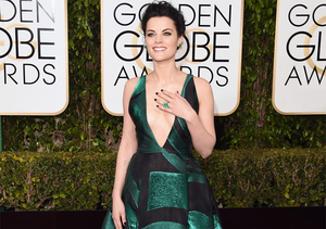 Jaimie Alexander Takes the Plunge in Dangerously Low-Cut Gown