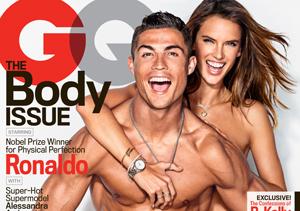 Hot! Cristiano Ronaldo and Alessandra Ambrosio Cover GQ's Body Issue