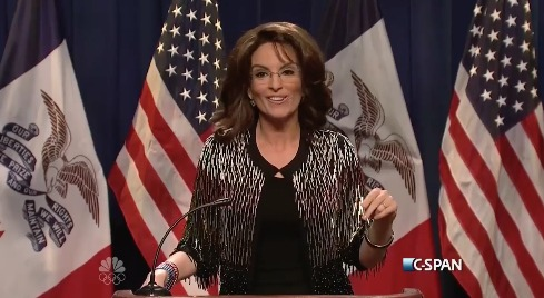 Tina Fey and Darrell Hammond Tweak Sarah Palin's Endorsement of Donald Trump
