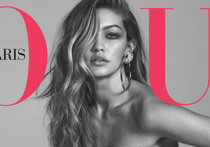 Gigi Hadid Goes Nude on Her First French Vogue Cover
