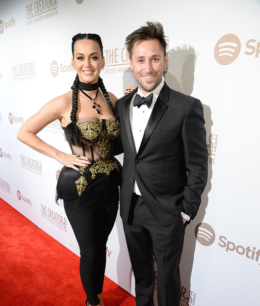 Red Carpet - Katy Perry and Mark Williamson, Head of Artist Services at Spotify - Photo Credit_ Kevin Mazur_Getty