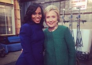 Hillary Clinton, the Gladiator? Presidential Hopeful Visits 'Scandal'