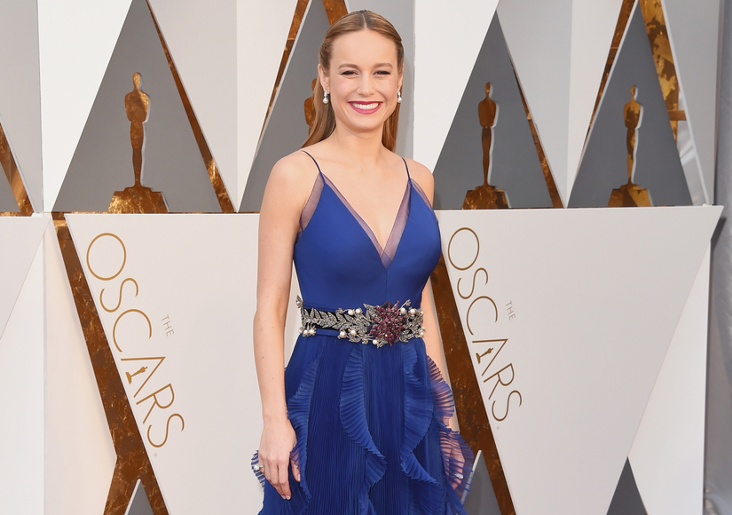 Feeling Blue! Brie Larson Stuns in Gucci Oscars Dress