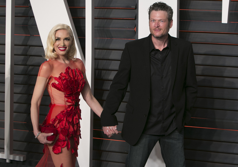 Gwen Stefani & Balke Shelton's Red-Carpet Debut at Vanity Fair Oscar Party