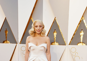 Lady Gaga Rocks White at Oscars for Second Year