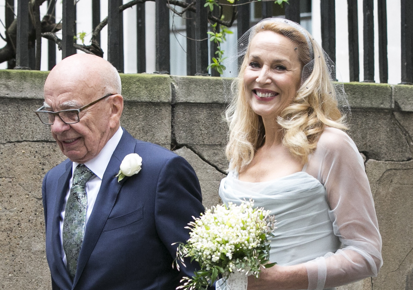 FOX Media Mogul Rupert Murdoch Weds Model Jerry Hall in London