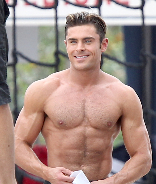 Zac Efron Shows-Off His Rock-Hard Body, Nuzzles Co-Star at 'Baywatch' Shoot
