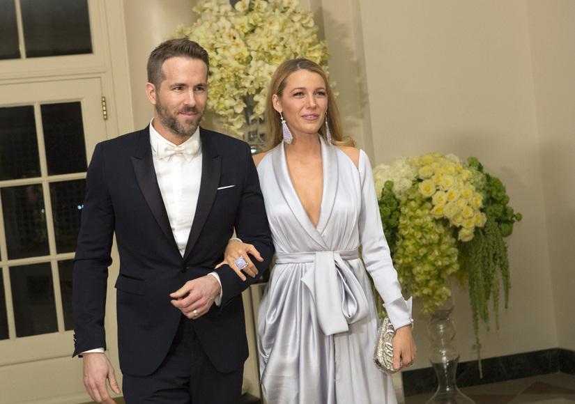 Ryan Reynolds & Blake Lively Turn Heads at White House State Dinner