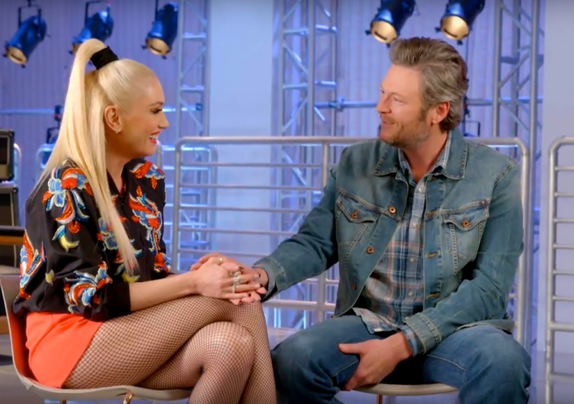 Blake Calls Gwen 'Hot' on 'The Voice' after She Snapchats Sweet Bonding Moment between Him & Apollo