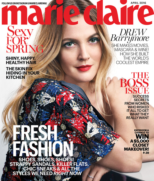 MC April '16 - Drew Barrymore - Newsstand