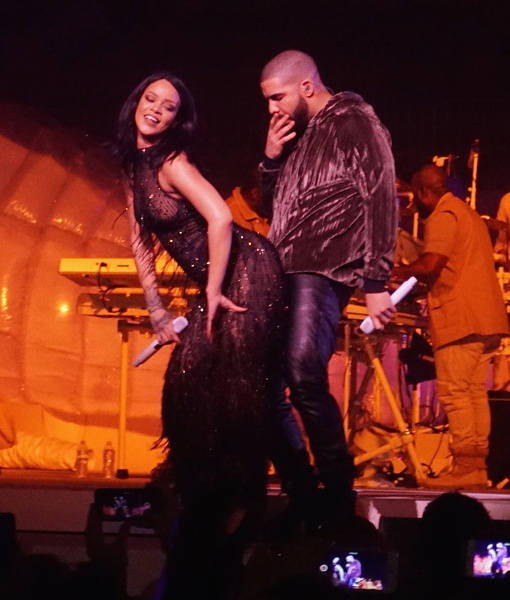Rihanna Wears Sexy See-Through Top and Twerks on Drake at Anti Concert in Miami