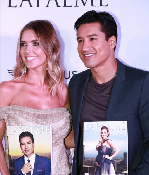 Audrina Patridge & Mario Lopez Celebrate Dual LaPalme Magazine Covers at Glitzy Launch