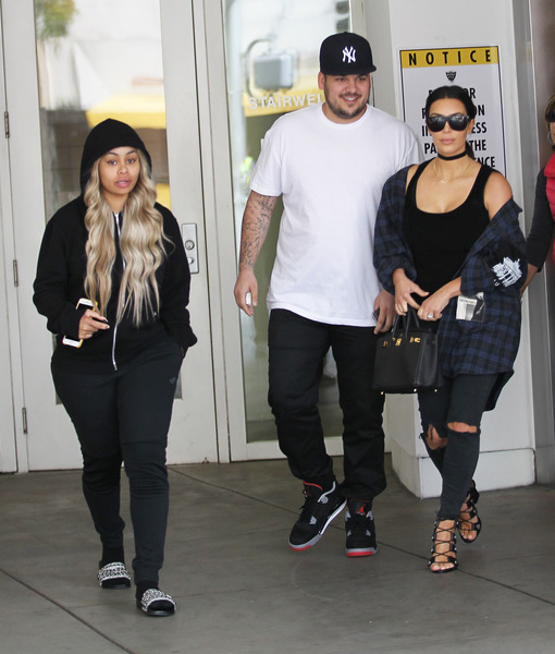 Blac Chyna Fuels Pregnancy Rumors with Doctor's Visit with Rob & Kim Kardashian