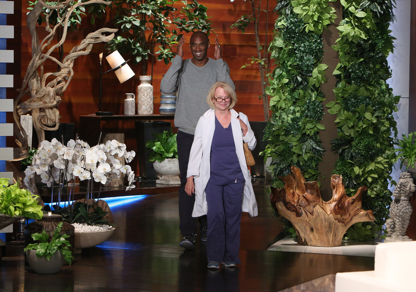 Watch: Kobe Bryant Fakes Major Sweaty Issue to Prank Clueless Aesthetician on 'Ellen'