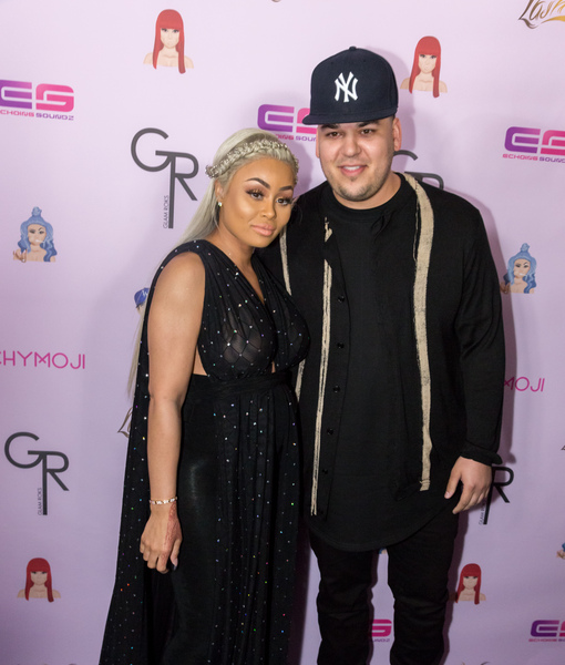 Blac Chyna & Rob Kardashian's First Public Appearance Since Baby Announcement