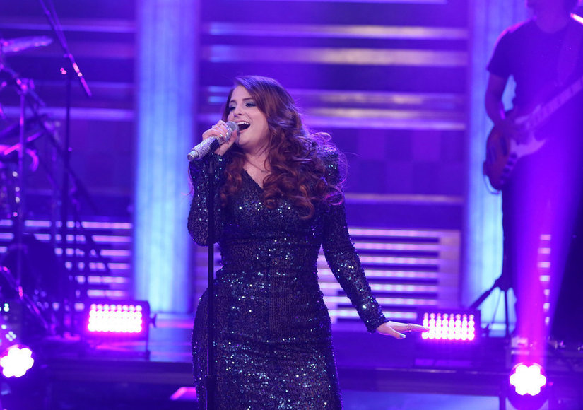 Uh-Oh! Meghan Trainor Takes a 'Tonight Show' Tumble