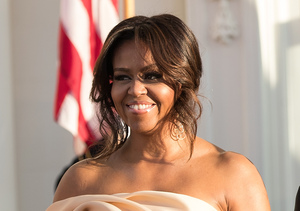 Michelle Obama Wows in Organza Gown at Nordic State Dinner