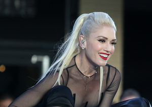 Getting Cheeky! Gwen Stefani Flashes Booty in Dress Held Together by Ribbon