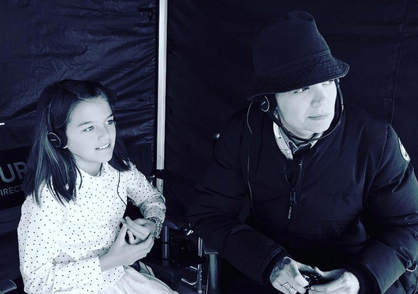 Suri Cruise Is So Grown Up on the Set of Katie Holmes' TV Show