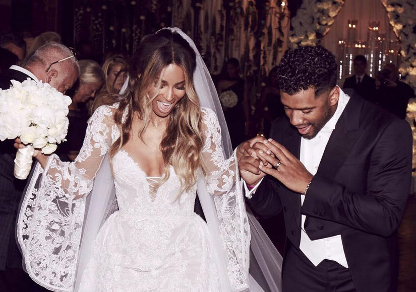 Russell Wilson's First Words on Fairy-Tale Wedding to Ciara