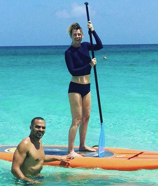 Video! See Ellen Pompeo and Jesse Williams Make a Splash in Hawaii