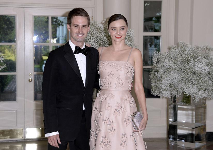 Are Miranda Kerr & Evan Spiegel Engaged?