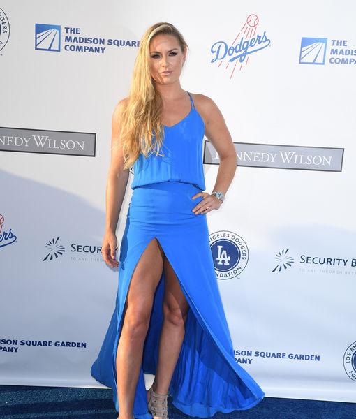 Lindsey Vonn Suffers Wardrobe Malfunction at Dodgers Gala
