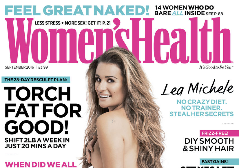 How Lea Michele Prepped for Completely Nude Women's Health Cover