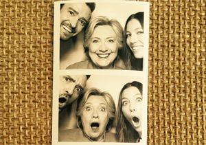 They're with Her! Justin Timberlake and Jessica Biel's Photo Booth Fun with Hillary Clinton