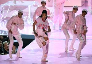 Video Vanguard Honoree Rihanna Slays in Pinktastic VMAs Opener