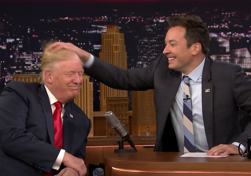 Donald Trump Gets His Famous 'Do Messed Up by Jimmy Fallon