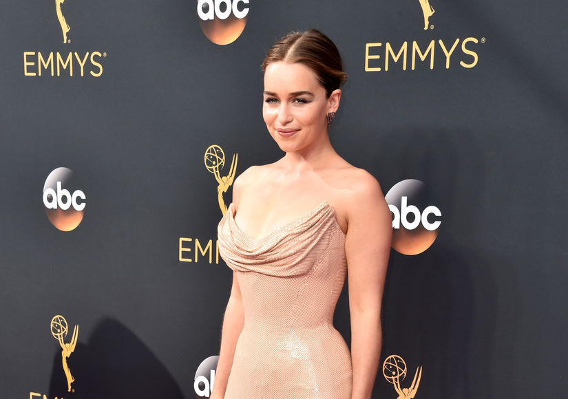 Emilia Clarke Jokes Chain-Mail Emmys Dress Would Never Work on 'GoT': 'My Boobs Would Probably Fall Out'