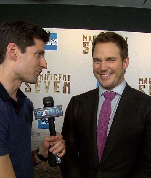 Chris Pratt Jokes He Might Have Hidden Chaps at 'The Magnificent Seven' Premiere