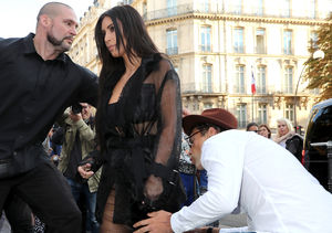Video! Serial Prankster Vitalii Sediuk Tries to Kiss Kim K's Famous Booty