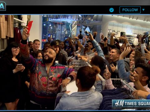 Video Dj Khaled Stops By Our H Amp M Studios In Times Square