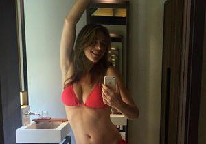 Elizabeth Hurley's Bikini Body Selfie Sizzles