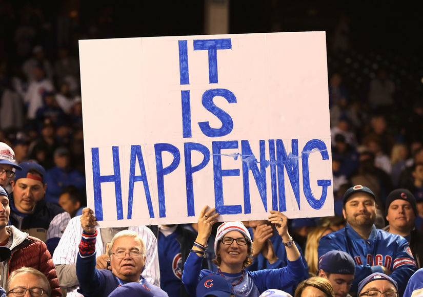 Cubs Advance to World Series for First Time in 71 Years... and the Celebrity Crowd Goes Wild!