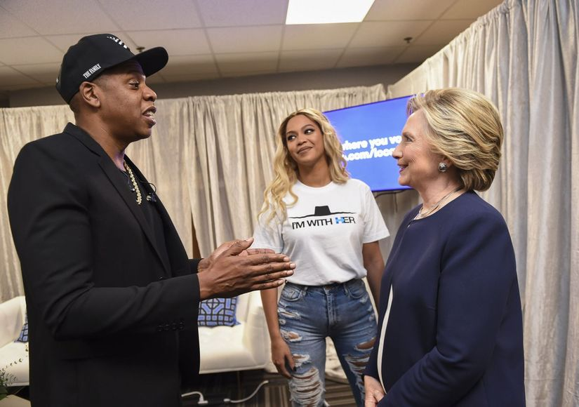 Beyonce makes surprise appearance at Clinton event in Ohio