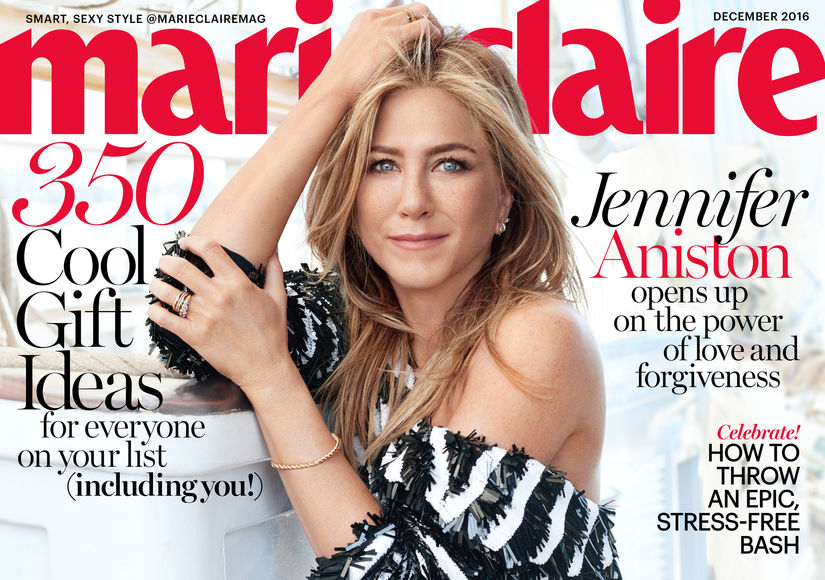 Jennifer Aniston Opens Up About Justin Theroux in Marie Claire