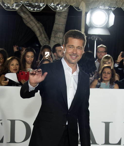 Brad Pitt Speaks! His First Red-Carpet Appearance After Split with Angelina Jolie