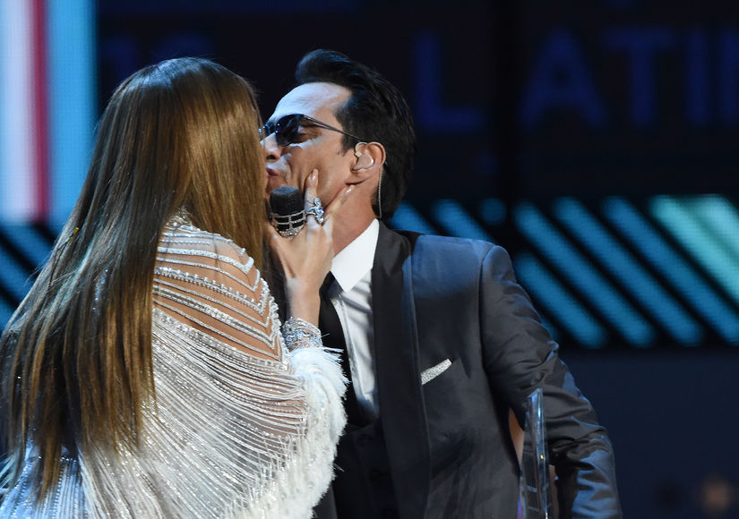 When Friendly Exes Collide! Jennifer Lopez & Marc Anthony's Onstage Kiss at Latin Grammy Awards