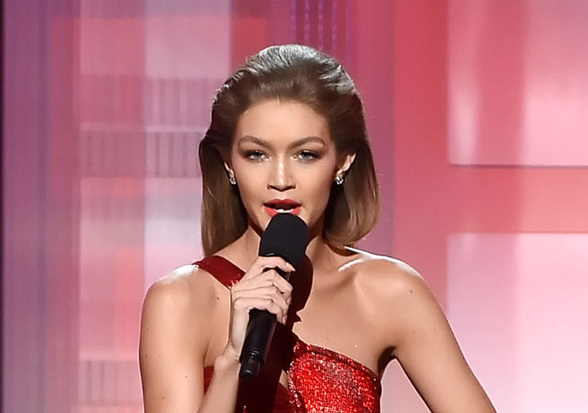 Gigi Hadid Whips Out Her Melania Trump Impression at the AMAs