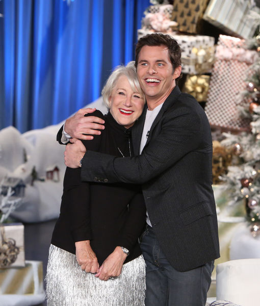 James Marsden Gets Surprise Kiss from Celeb Crush Dame Helen Mirren