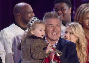 Alec Baldwin and Daughter, Carmen Light Up Rockefeller Christmas Tree