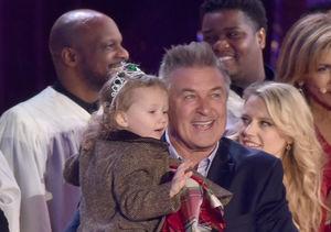 Alec Baldwin and Daughter, Carmen Light Up Rockefeller Christmas Tree