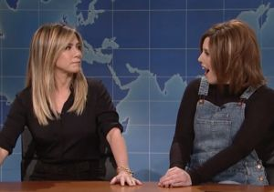 Jennifer Aniston Drops by 'SNL' to Confront Fake Rachel from 'Friends'