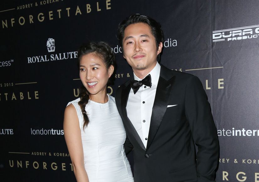Wedding Pic Steven Yeun Marries Joana Pak Extratv Com