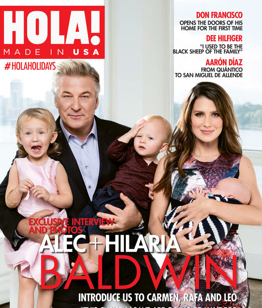 Hilaria & Alec Baldwin Share Family Values in HOLA! Magazine