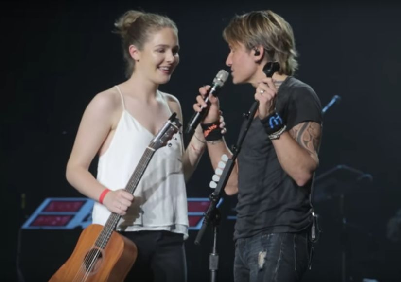 Keith Urban Shares the Stage with Fan