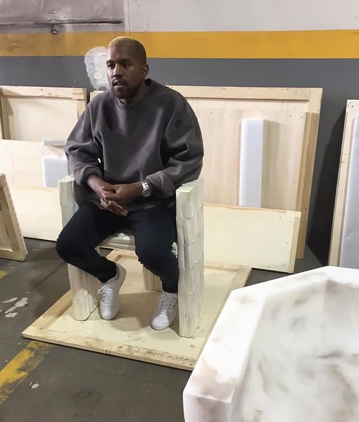 Kanye West Resurfaces with Blond Hair After Hospitalization
